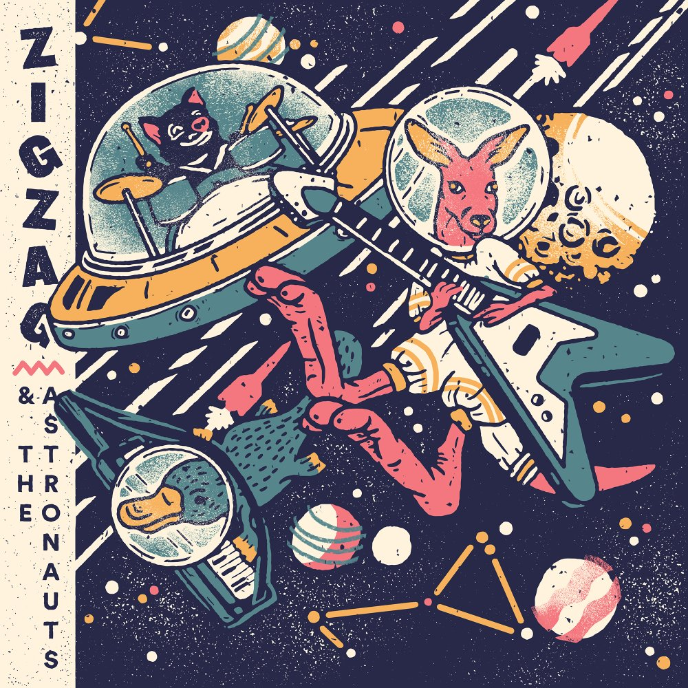 Zigzag and the Astronauts album cover